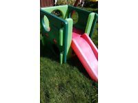 Plastic play centre climbing cube slide. Rrp £100 garden toy