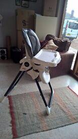 Good condition fold-able high chair. £20