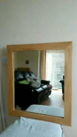Mirror solid wood frame