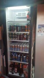 Glass door drinks fridge