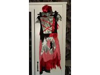 Girls Zombie Little Red Riding Hood costume age 7-9 years