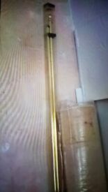 Gold extendable curtain rail. Brand New packed