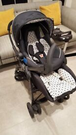 Silver Cross 3D Ventura Complete Travel System with additional Isofix car seat base