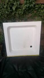 Shower tray 800mm x 800mm cast concrete