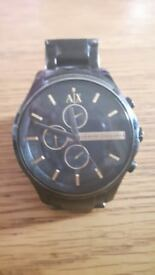 Armani Exchange - Black & Gold watch