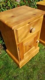 Wax Pine Bedside Tables