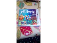 Miitopia 3ds game with box and user manuals