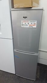 New graded bush fridge freezer silver for sale in Coventry 12 month warranty
