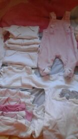 Baby girl clothes (tiny baby to 3-6months)mostly new items