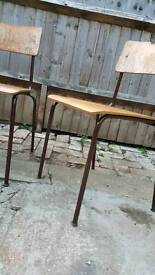 Vintage school / office chairs x2