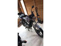 Yamaha ybr 125cc motorcycle