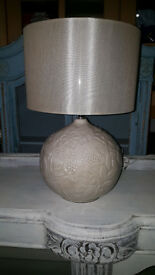 Next Lamp with flower pattern