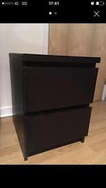 IKEA 2 drawer cabinet bedside table