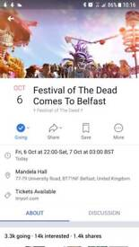 FESTIVAL OF THE DEAD x tickets