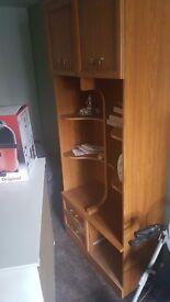Large brown bedside cabinets