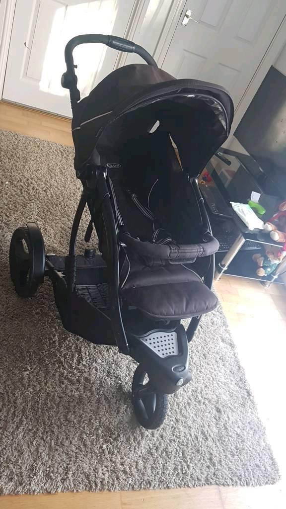 Black Graco Trekko Duo Sport Luxe Pushchairs Twin Seat Stroller in very good condition