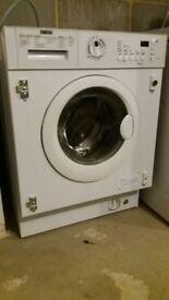 New Zanussi ZWI71201WA Integrated Washing Machine, 7kg Load, A++ Energy Rating, 1200rpm Spin, White