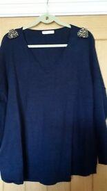 NEW ladies blue jumper