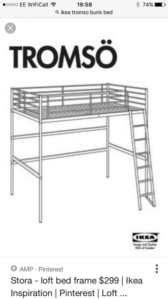 IKEA TROMSO DOUBLE LOFT BED | in Slateford Road, Edinburgh | Gumtree