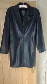 Black beautifully soft Versaci fitted leather jacket size 10