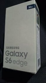 Samsung S6 Edge 32 GB Black Excellent condition as New with Box and accessories