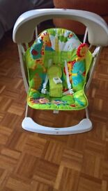 Fisher Price Rainforest take along swing and seat new