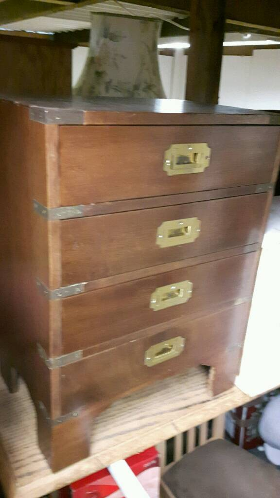 Solid Mahogany Bedside Cabinet or Side Table