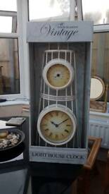 Vintage lighthouse clock