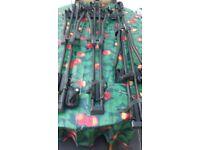 Thule roof bar mount cycle racks x3