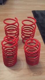 Lowering springs for a Vauxhall corsa