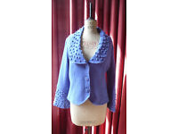 Fitted lilac cardigan, size 14