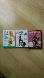 3 workout DVD's