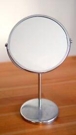 Chrome Freestanding Bathroom Mirror
