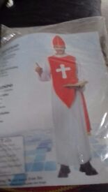 Bishop Adult Fancy Dress Costume with FREE Cross