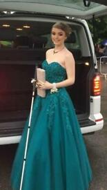 Alyce Teal Prom Dress size 8