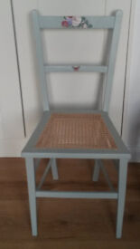 Pretty newly re-caned chair for bedroom or nursery
