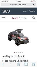 RRP£155 Audi quattro Black Motorsport Children's Ride-on Car