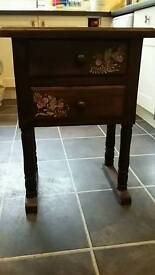 Side table or bedside cabinet