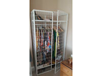 Ikea Wardrobe - Metal Wire Framed, good condition just surplus to requirements