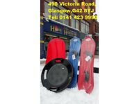 HEAVY DUTY SNOW SLEDGE TOBOGGAN SLEIGH SLED ROPE PLASTIC ADULTS SKI BOARD AVAILABLE (Plenty in stock