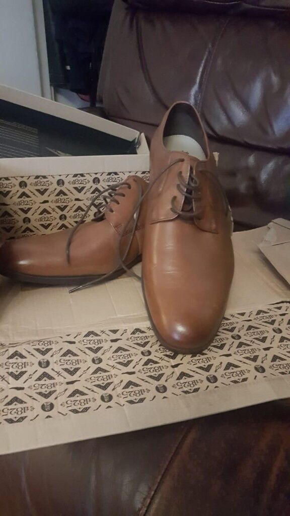 773768b008e NEW Clarks Banfield Walk Brown Lace Ups Leather Oxfords Mens UK Size 9 H