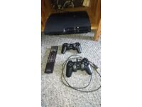 Play Station 3 with games and remote control