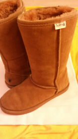 Bearpaw boots used only a few times/classic tall/ colour chestnut/ size 39, H:27cm
