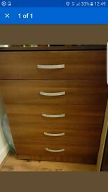 Walnut colour chest drawer