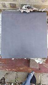 Grey floor tiles about 75 13 x 13 inches