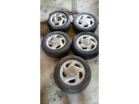 Classic Toyota Celica set of alloy wheels. Original wheels.