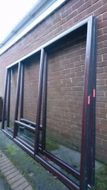 Window frames and A rated glass . Two UPVC frames, ideal for a conservatory and 6 panes.