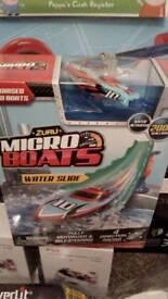 Brand new zuru micro boats waterslide