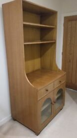 Solid wood cabinet size 900 x 600 and height 1900 Teak Finish