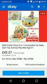 Fisher price activity play mat